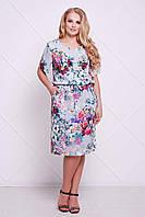 Летнее женское голубое платье большого размера ЛавТМ Таtiana 54-60 размеры