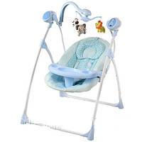 Кресло-качели с электроприводом Bambi 2 в 1 M 1540-2-2 голубые