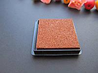 Штемпельная подушечка 4х4см. коричневая
