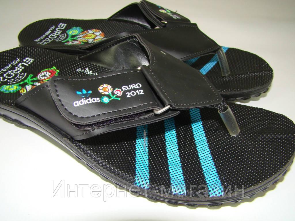 Вьетнамки мужские Adidas на липучке (40-44р) код 7011 синий