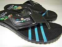 Вьетнамки мужские Adidas на липучке (40-44р) код 7011 синий, фото 1
