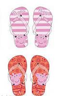 Вьетнамки детские Свинка Пеппа на девочку/ Peppa Pig/размер  25-26 (стелька 16 см )/ 27-28 ( стелька 17 см )