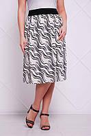 Летняя юбка из тонкого трикотажа ТИНА ТМ Таtiana 56-60 размеры