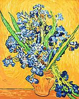 Картины по номерам - Ирисы в вазе. Ван Гог