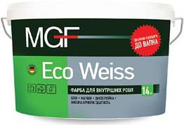 Краска Mgf Eko Weiss 1,4кг - для внутренних работ