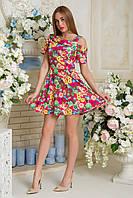 Платье Евгения малиновый принт