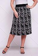 Плиссированная женская летняя юбка большого размера ТИНА ТМ Таtiana 54-60 размеры