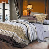 Комплект постельного белья Вилюта ранфорс Platinum двуспальный Евро 12649