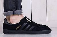 Мужские кроссовки Adidas Gazelle Black (адидас, реплика)