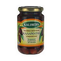 Крупные маслины с косточкой Каламата / Каламатас Kalimera / Калимера, 360 г, маслины стекло