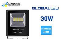 Светодиодный прожектор 30W GLOBAL 5000К(Холодный)