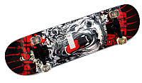 Дерев'яний скейт ,скейтбоард спортивний напівпрофесійний MS 0355, фото 1