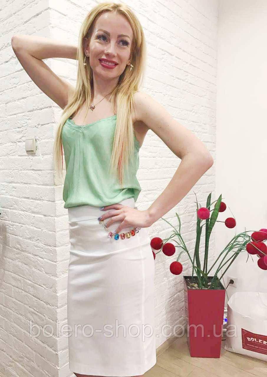 Женская юбка карандаш белая летняя Италия Rinascimento