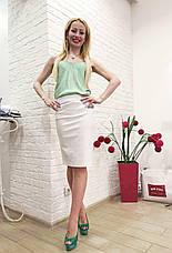 Женская юбка карандаш белая летняя Италия Rinascimento, фото 3