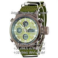 Часы AMST Black-Green Green Wristband