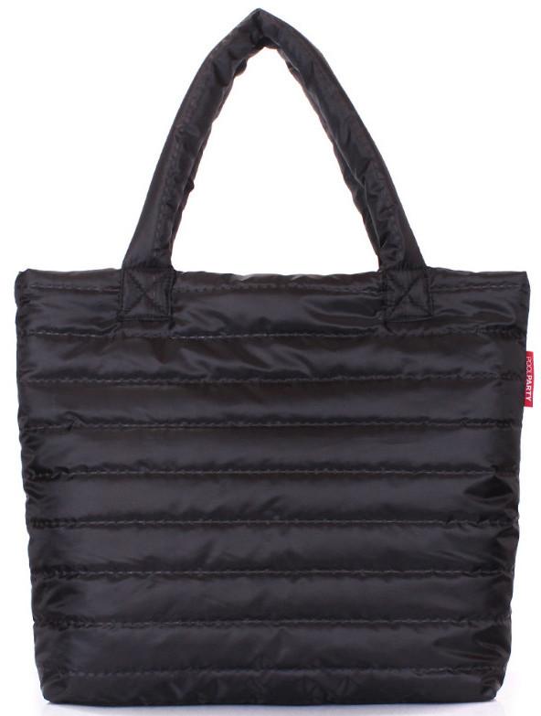 32c9ed6f3d2a Женская дутая сумка POOLPARTY pp4-black-new черная 8 л — только ...