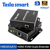 Видео передатчик Tesla Smart HKE1011A7U 4К 3D HDBaseT 100 м HDMI KVM Extender по витой паре, фото 1
