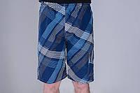 Мужские шорты Полоска (плащевка) синий цвет. Удлиненны. Хмельницкий