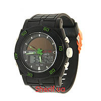 Часы Skmei 0981 Black/Green  0981BG