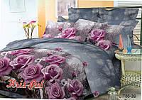 """Семейное постельное бельё с розами """"Барбара""""."""