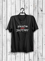 Мужская футболка Skate and Destroy, мужская футболка Скейт и Дестрой, спортивная, брендовая, черная