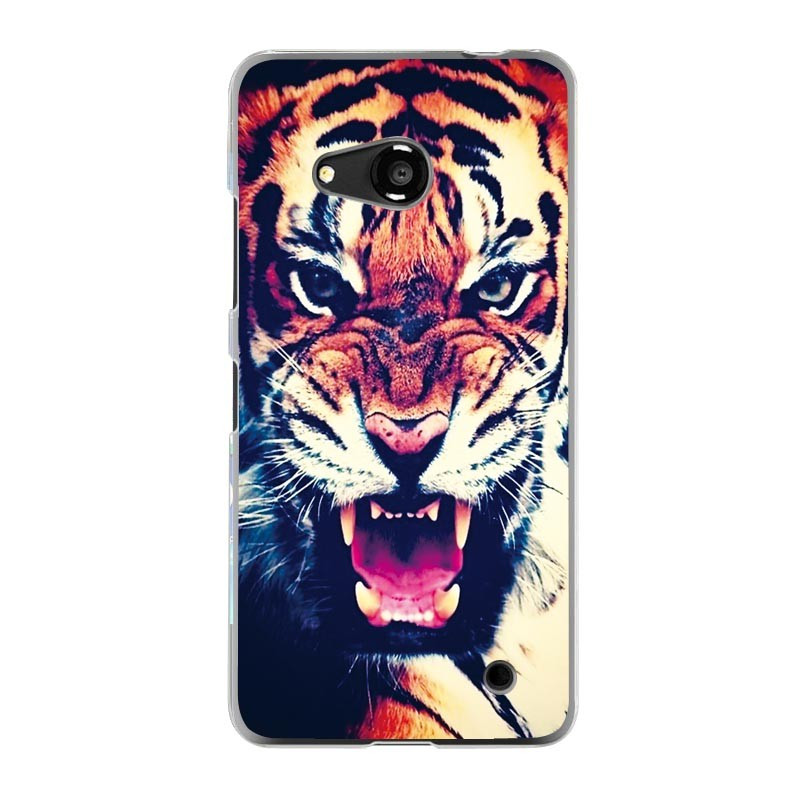 Чехол для Microsoft Nokia Lumia 550 с рисунком оскал тигра