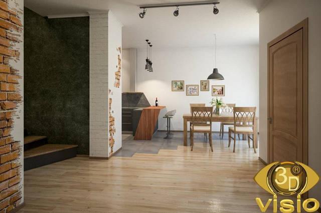 Визуализация квартиры 100 кв. м 2