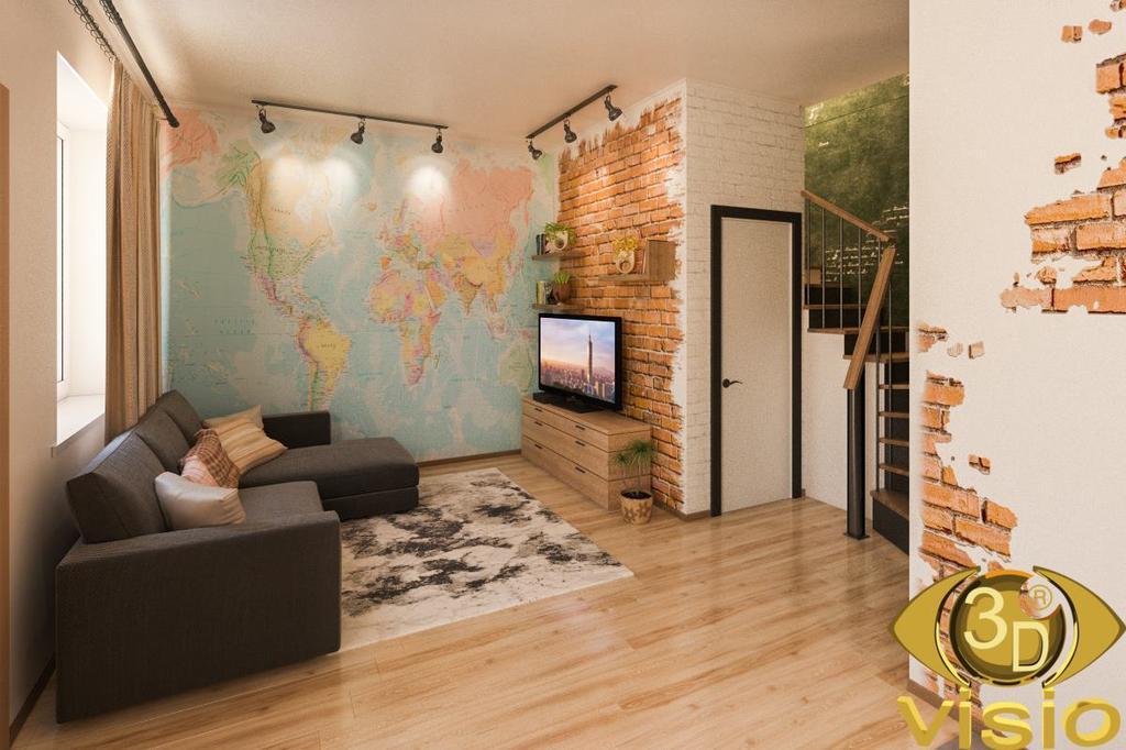 Визуализация квартиры 100 кв. м