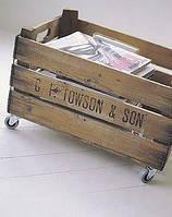 Ящик для газет и журналов из натурального дерева