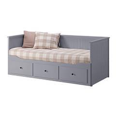 HEMNES Диван-кровать с 3 ящиками, серый 603.722.76