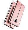 Розовый кожаный чехол-книжка премиум класса для Samsung Galaxy A5 (2017) / A520