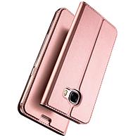 Розовый кожаный чехол-книжка премиум класса для Samsung Galaxy A5 (2017) / A520, фото 1
