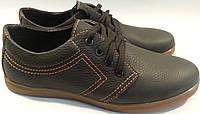 Туфли мужские кожаные р40-45 AMELI 01 черные SEGG