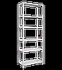 Стеллаж складской архивный 2400*900*400 (6 полок)