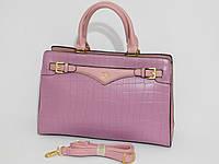 Сумка женская классическая деловая фиолетовый цвет, фото 1