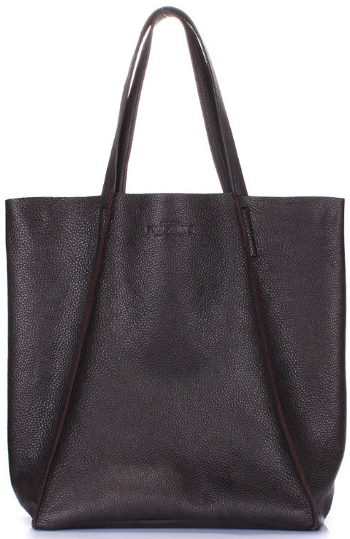 Жіноча шкіряна сумка POOLPARTY poolparty-edge-brown 19 л