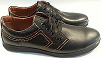 Туфли мужские кожаные р40-45 SAV 01 черные SEGG
