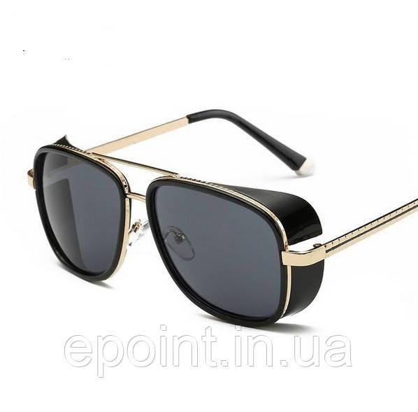 cb70f8dd7530 Мужские солнцезащитные очки с шорами, оправа черный золотистый цвета -  Интернет-магазин