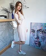 Трендовая удлиненная рубашка платье, фото 1
