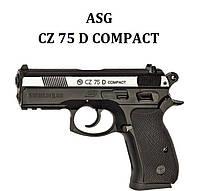 Пневматический пистолет ASG CZ 75 D Compact (Вставка никель)
