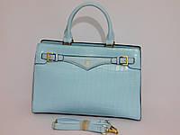 Сумка женская классическая деловая голубой цвет