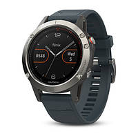 Спортивные часы Garmin fenix 5 Silver with Granite Blue Band