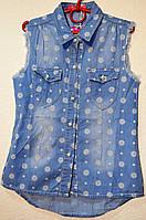 Рубашка без рукавов джинсовая для девочек S&D KK-743