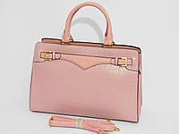 Сумка женская классическая деловая розовый цвет, фото 1