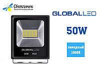 Светодиодный прожектор 50W GLOBAL 5000К(Холодный) FLOOD LIGHT