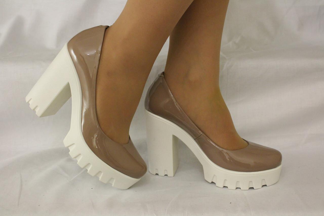 4e16bbe72 Туфли на устойчивом каблуке. Натуральная кожа 0606 - Интернет магазин обуви  от производителя в Харькове
