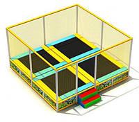 Батутный компекс из 4 батутов квадратный