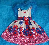 Платье детское нарядное  цветами, доставка по Украине