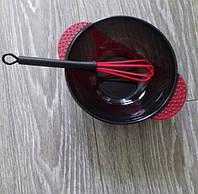 Мисочка  для краски с венчиком с присоской