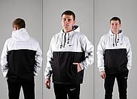 Спортивные Костюмы мужские из плащевки черно белый